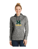 Sport-Tek PosiCharge Electric Heather Ladies Fleece Hoodie
