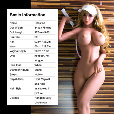 Christina - TPE Real Life Sex Dolls 170 CM | 5'ft 6""