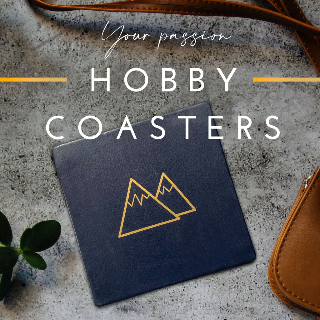 Hobby Coasters - perfect gifts for people with hobbies