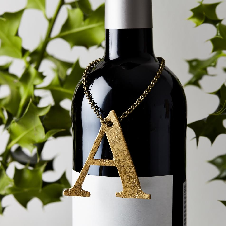 Monogram Leather Bottle Tag