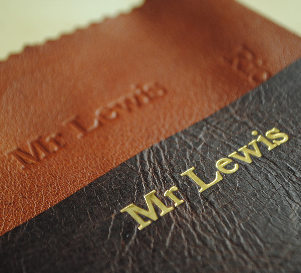 Personalised leather iPad cover