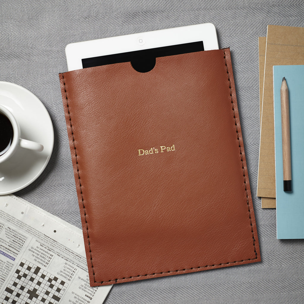Handmade iPad and Leather Card holder set