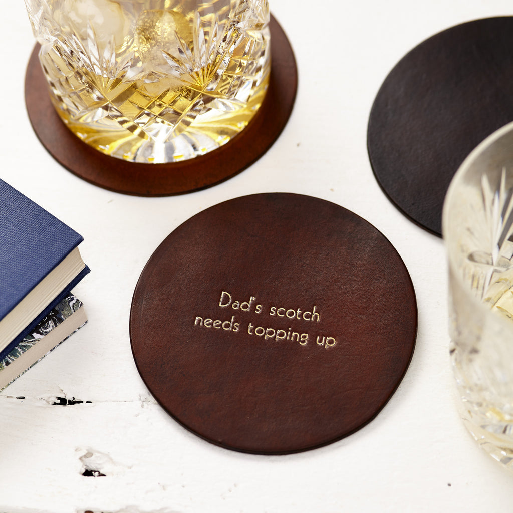 Hand-dyed Leather Coaster