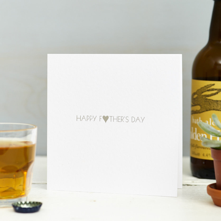 Foil Printed Fathers Day Card