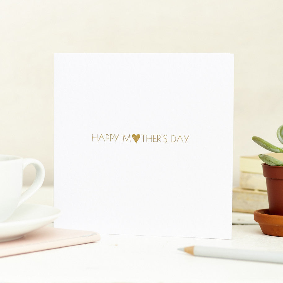 Foil Printed Mothers Day Card