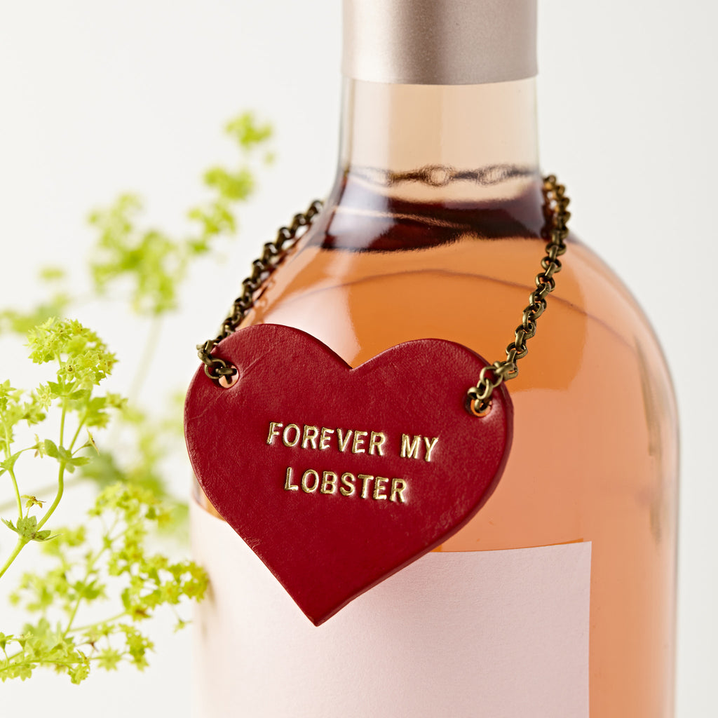 Personalised Valentines Leather Bottle Tag
