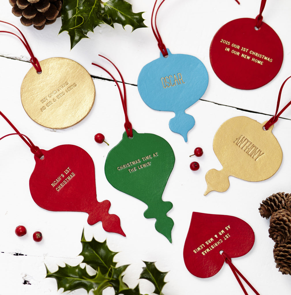 Handmade Leather Christmas Decorations