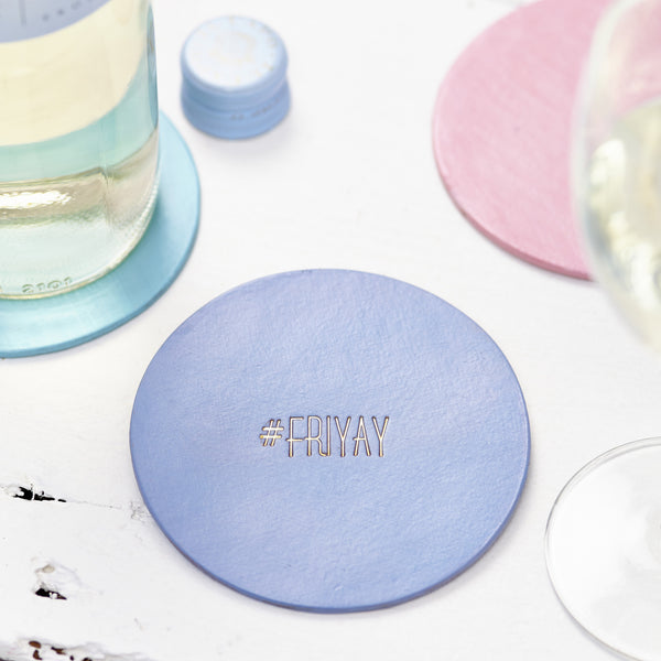 Personalised Hashtag leather Coaster