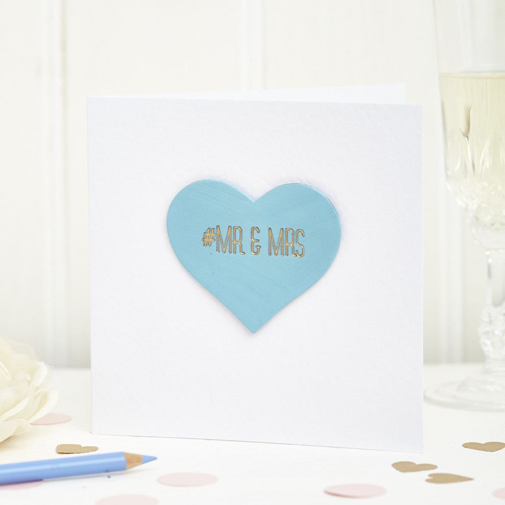 Personalised Mr and Mrs Hashtag Card