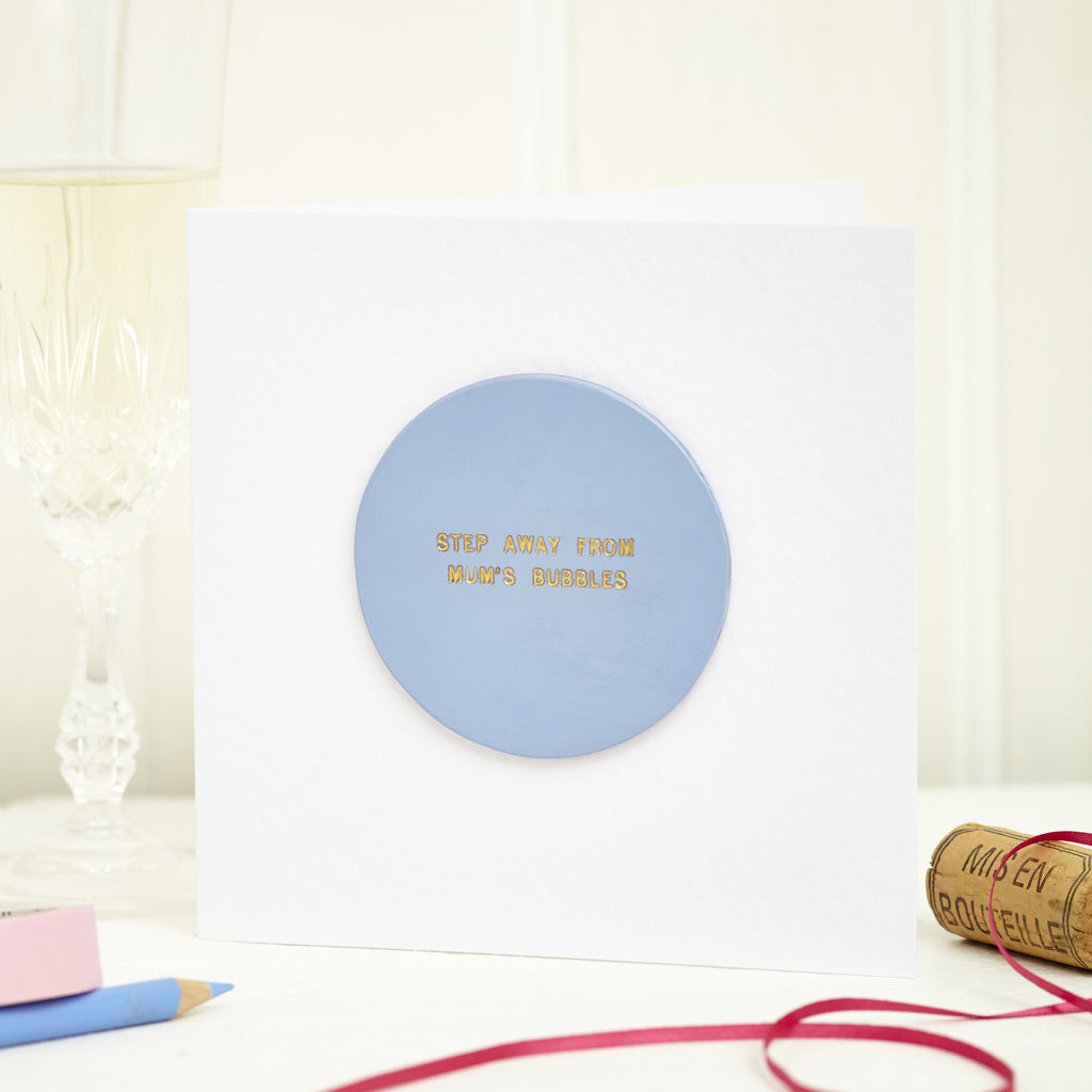 Personalised Leather Champagne Coaster Card