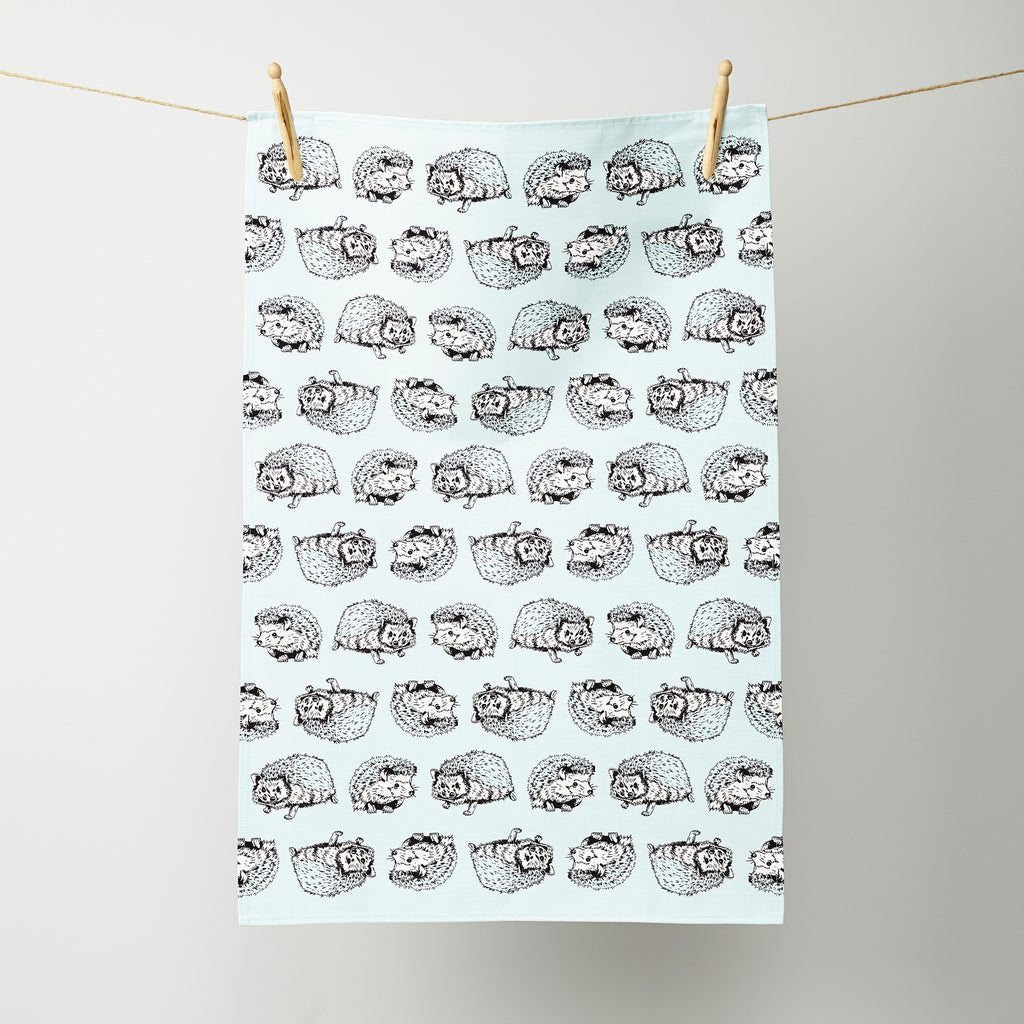 Shy Hedgehog Tea Towel