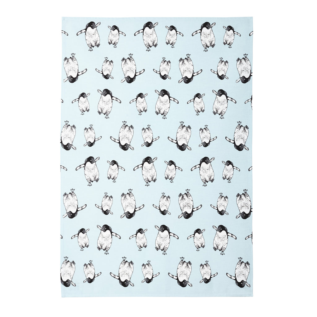 Tap Dancing Penguin Tea Towel
