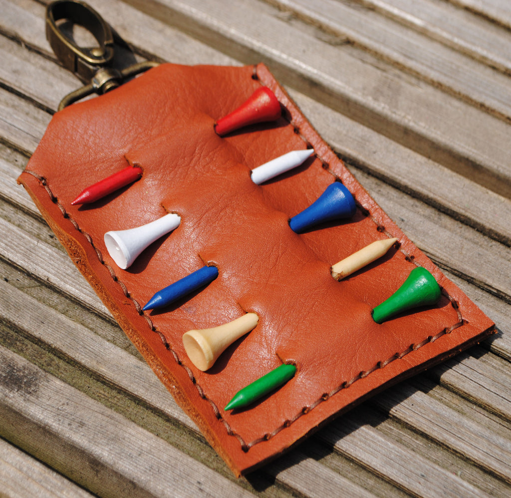 Leather Golf Tee Holder