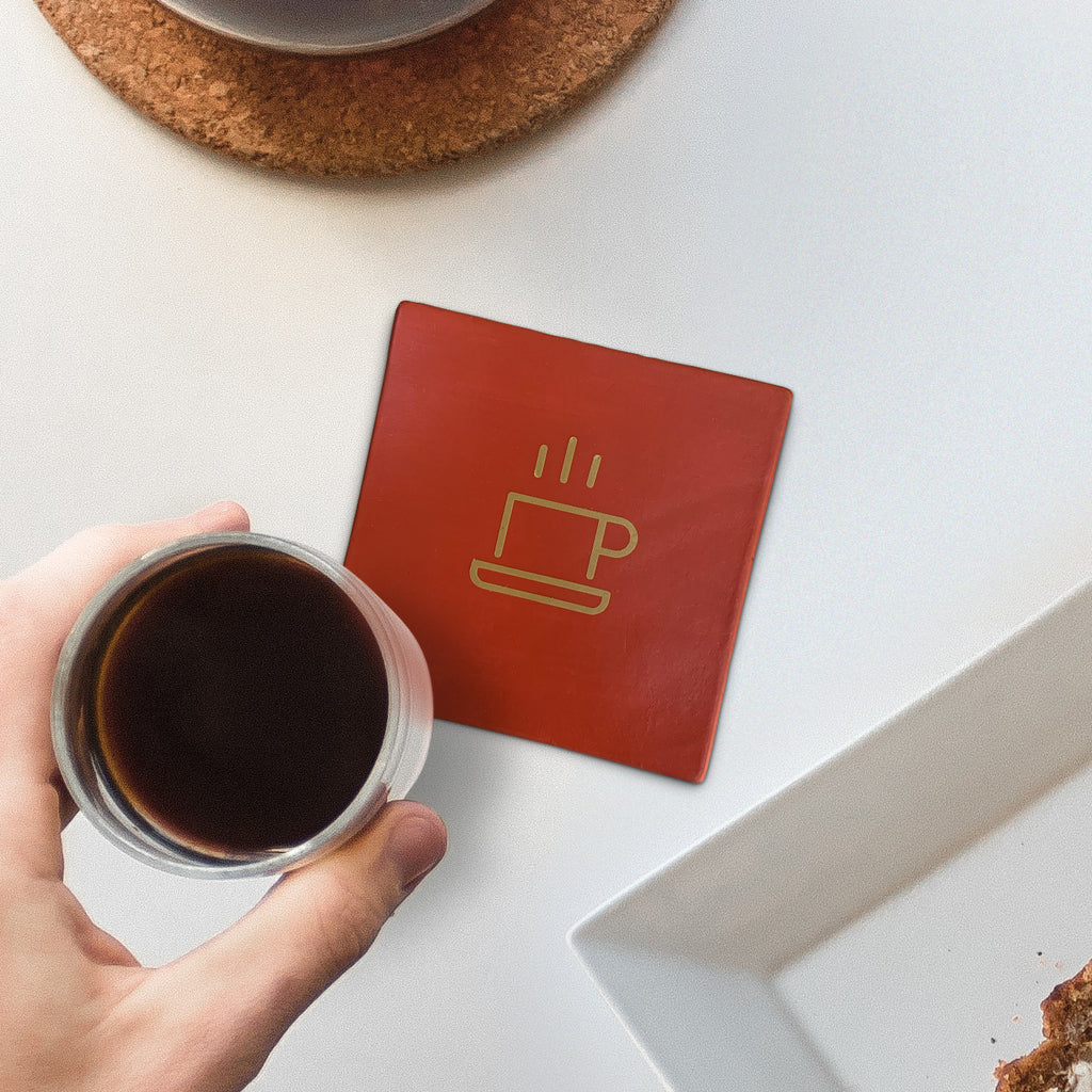 A coffee coaster for coffee-lovers