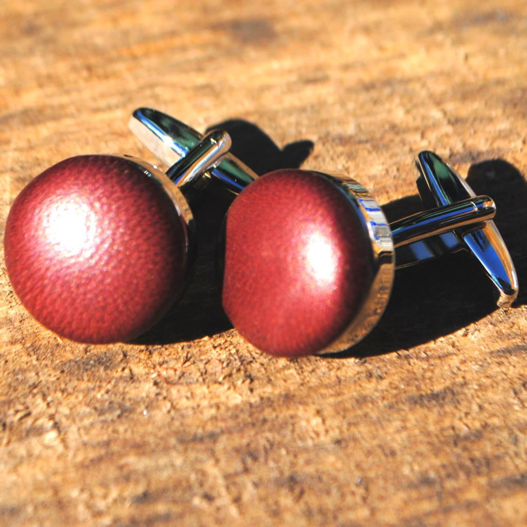 Ox blood heavy weight cufflinks