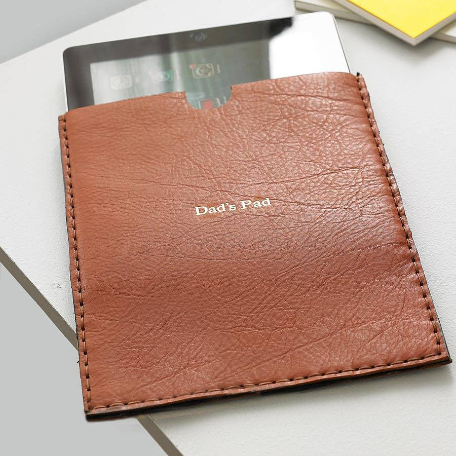 personalised leather iPad case by Parkin & Lewis