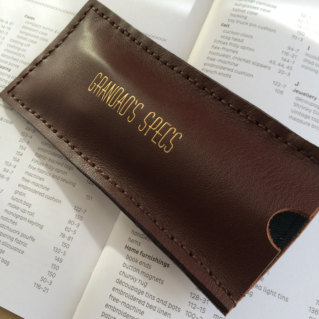 handmade leather glasses case