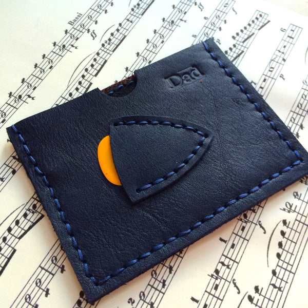 midnight blue plectrum and card holder