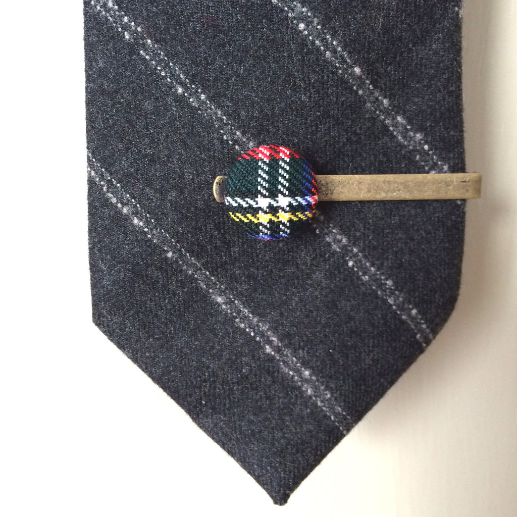 scottish tartan vintage tie pin