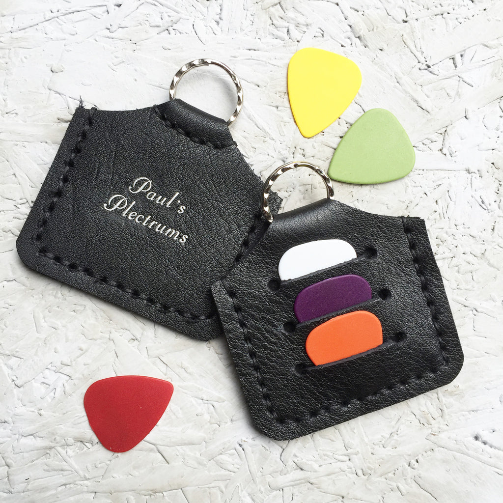 Personalised Plectrum Holder Keyring
