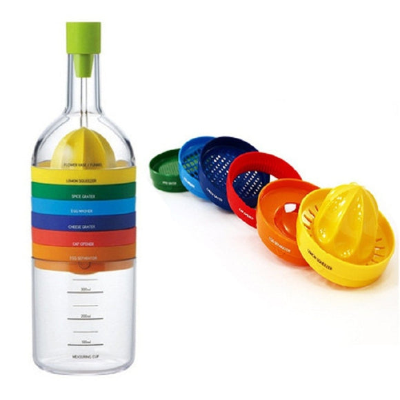 The Bottle with 8 gadgets