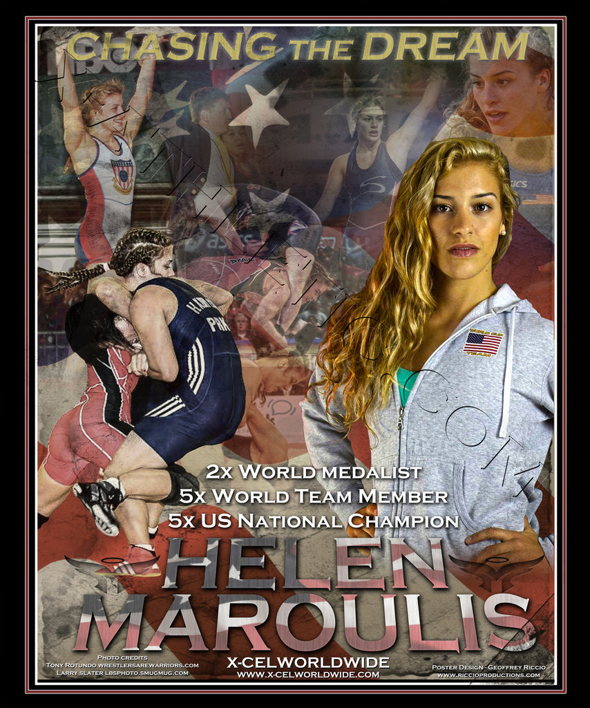 Helen Maroulis Limited Edition Signed Lithograph /750 - X-Athletic
