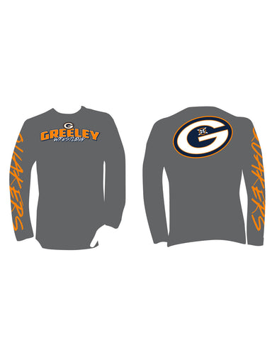 Greeley Wrestling Screened Cotton Long Sleeve Tee-Shirt - X-Athletic