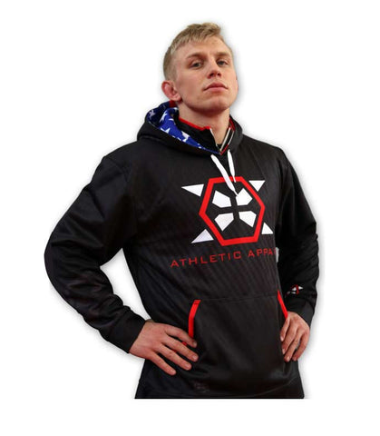 X-Athletic Sublimated Hoodie: USA Colors - X-Athletic