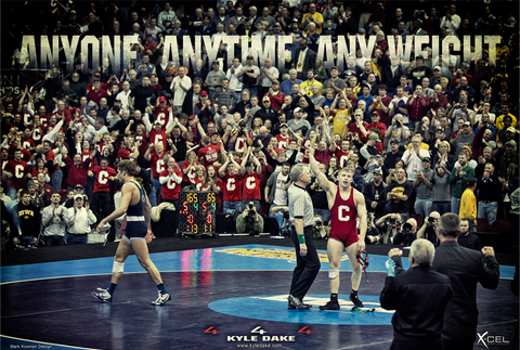 Autographed  Kyle Dake Moment in History Print - X-Athletic
