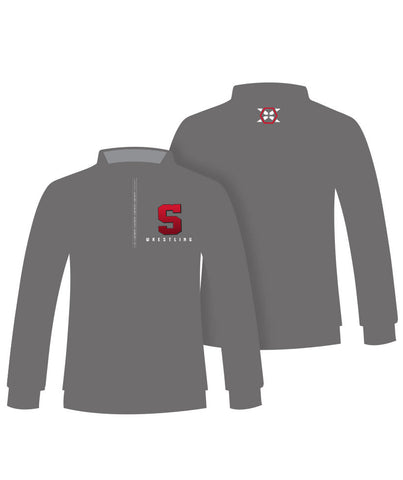 1/4 Zip Embroidered Fan Pullover - X-Athletic