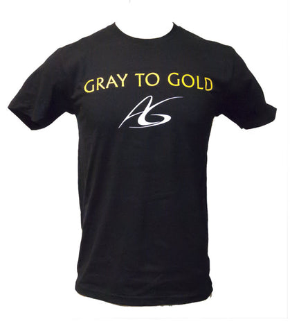 Men's Adeline Gray 'Gray to Gold' Crew-Neck T-Shirt