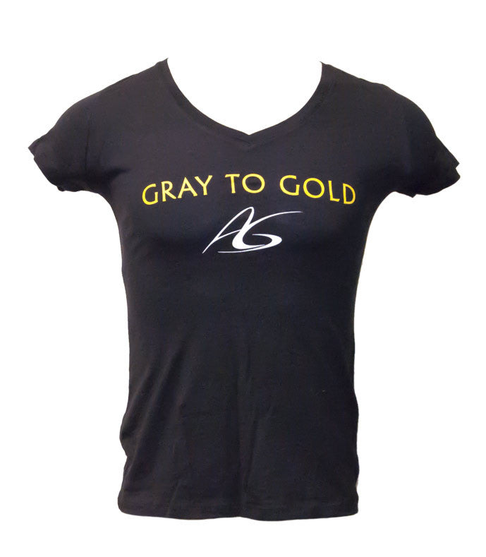 Women's Adeline Gray 'Gray to Gold' V-Neck T-Shirt - X-Athletic