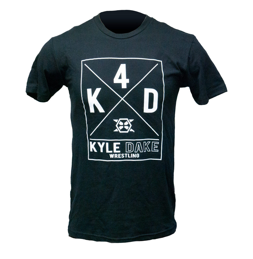 Kyle Dake Wrestling Tee Black K4D Logo - X-Athletic