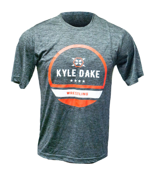 Kyle Dake Wrestling Tee Grey / Red - X-Athletic