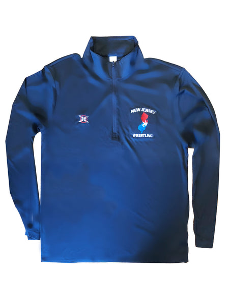 Embroidered NJ 1/4 Zip Pullover