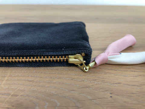 Mini-Bag Samt anthrazit