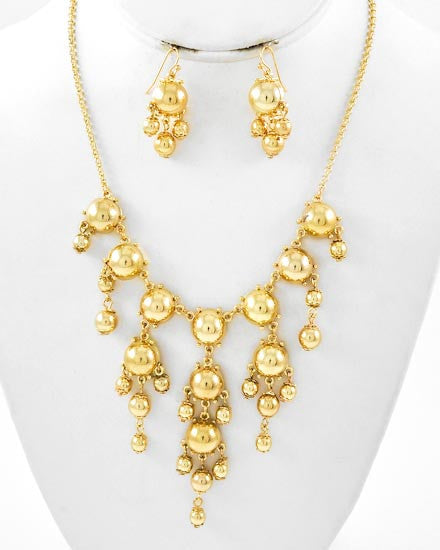 Bubble Drops Necklace Set