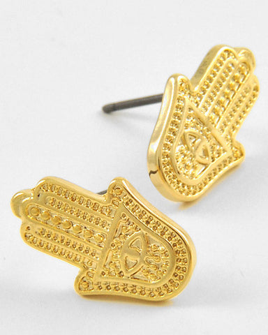 Hamsa Stud Earrings (More Colours Available)