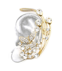 Crystal Butterfly Ear Cuff