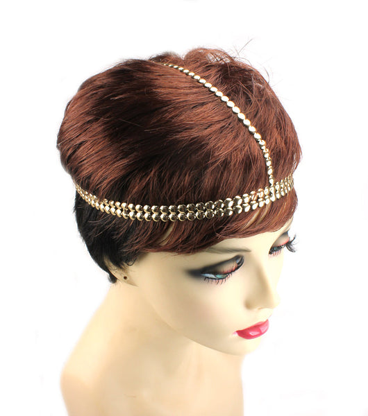 Modern Metallic Gold Head Chain