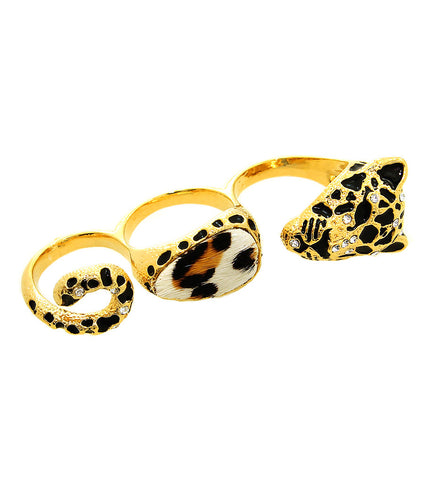 Leopard Knuckle Ring