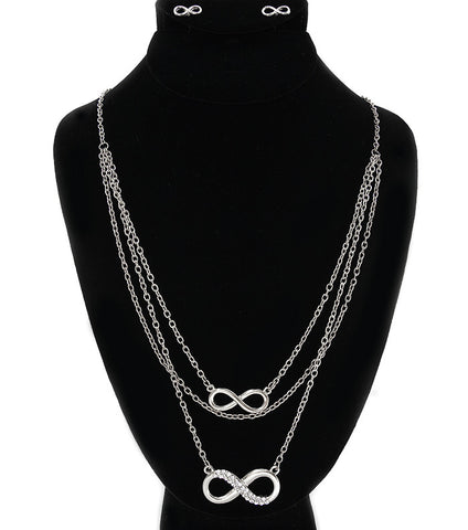 Infinity Multilayer Necklace Set (More Colours Available)