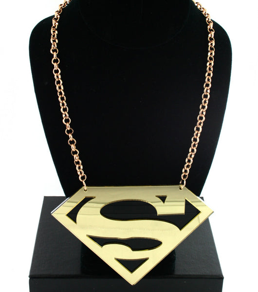 Gold Superman Chain Necklace