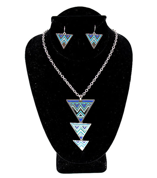 Bold Bright Triangle Necklace Set