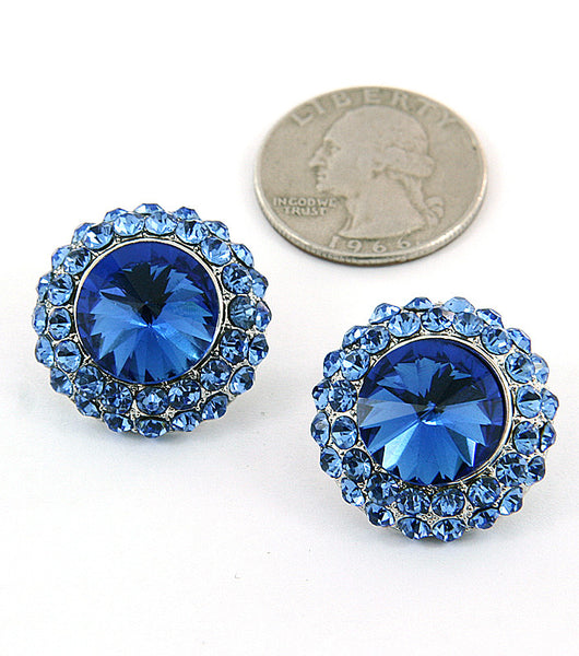 Crystal Stud Earrings (More Colours Available)