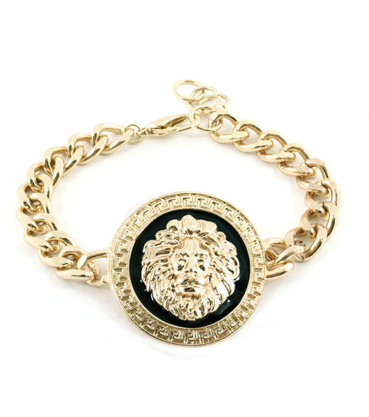 Lion Head Chain Bracelet