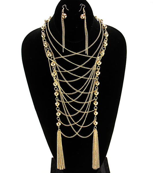 Long Goddess Layered Necklace Set (More Colours Available)