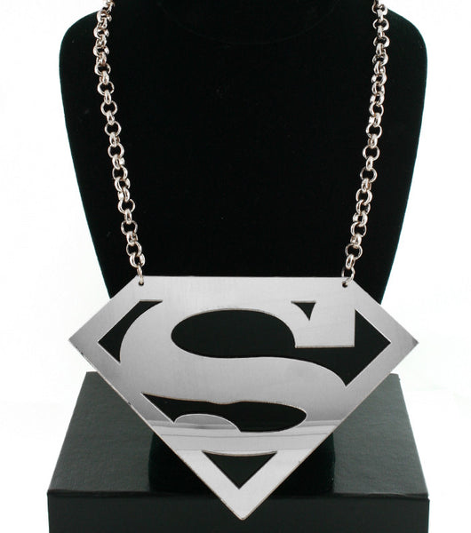 Jumbo Silver Superman Necklace
