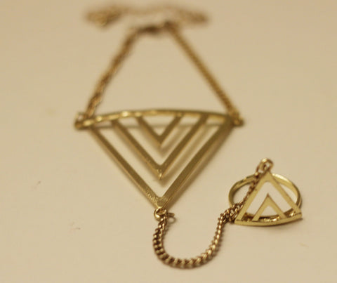 Triangle Bracelet Ring (More Colours Available)