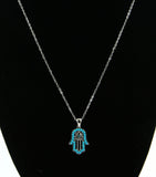 Crystal Hamsa Necklace (More Colours Available)